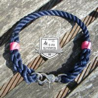 ROPE DOG COLLAR - NAVY